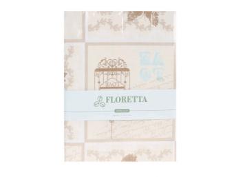 Set fete de perna Floretta Aura Bej 50x70 cm