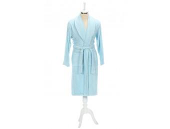 Halat baie bumbac barbati/femei Trendy Albastru
