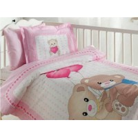 Lenjerie de pat copii Bumbac 100% Little Bear