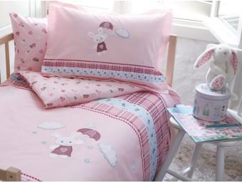 Lenjerie de pat copii Bumbac 100% Rain Rabit