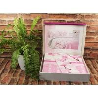 Lenjerie de pat dublu din Bumbac 100% Modaletto Sakura