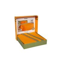 Lenjerie de pat dublu din Bumbac 100% Neon Portocaliu
