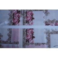 Lenjerie de pat dublu din Bumbac 100% Ranforce Roses