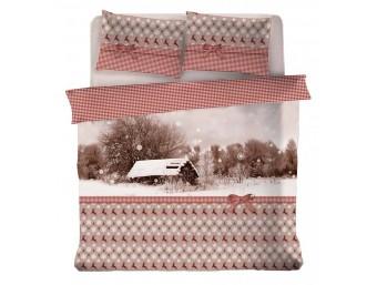 Lenjerie de pat dublu din Bumbac 100% Snow House