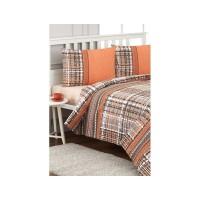 Lenjerie de pat dublu din Bumbac 100% Tweed Portocaliu