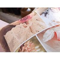 Lenjerie de pat dublu din Bumbac 100% Satinat 3D Pink Dreams
