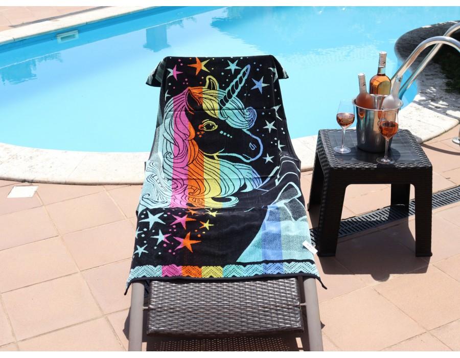 Prosop plaja pentru copii din bumbac 100% Unicorn 85x165 cm